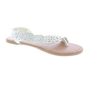 Gold Toe Women's Balina Lasercut Floral Sandal